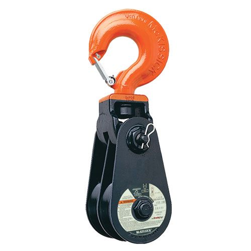 "Crosby 408 14"" RB Double Snatch Block w/ Hook - 12 Ton WLL - #104443"