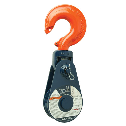 "Crosby 418 14"" RB Snatch Block w/ Hook - 8 Ton WLL - #108546"