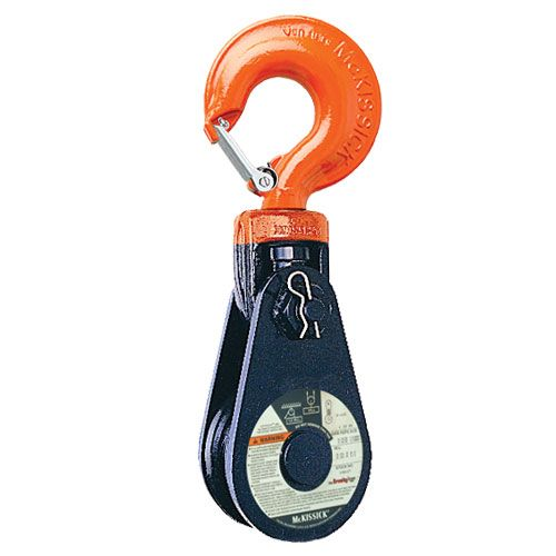"Crosby 430 10"" BB Snatch Block w/ Hook - 20 Ton WLL - #120096"