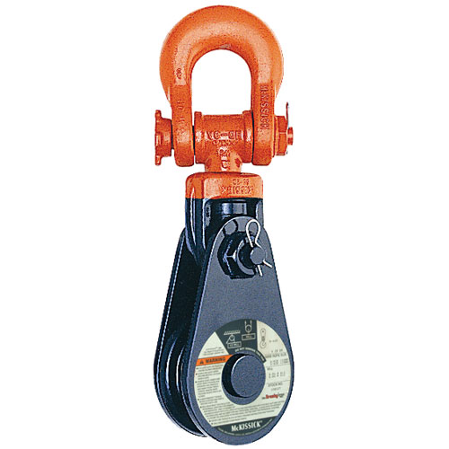 "Crosby 431 10"" RB Snatch Block w/ Shackle - 20 Ton WLL - #121111"