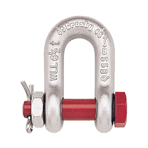 "Crosby 5/16"" G-2150 Bolt Type Chain Shackle - 3/4 Ton WLL - #1019770"