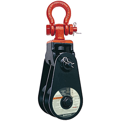 """Crosby 409 6"""" RB Double Snatch Block w/ Shackle - 12 Ton WLL - #105120"""