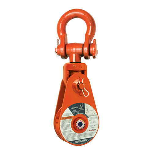 "Crosby 417 6"" BB Alloy Snatch Block w/ Shackle - 12 Ton WLL - #168972"