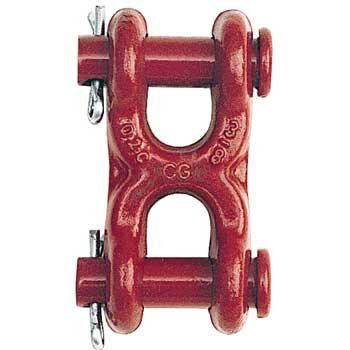 """Crosby 7/16"""" - 1/2"""" S-249 Grade 70 Twin Clevis Link - 11300 lbs WLL - #1012905"""