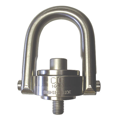 "Crosby 7/8""-9 x 1.04"" SS-125UNC Stainless Steel Swivel Hoist Ring - 4000 lbs WLL - #1065056"