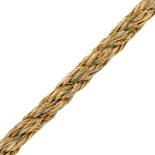 "CWC 1-1/4"" Manila 3-Strand Rope - 12150 lbs Breaking Strength"