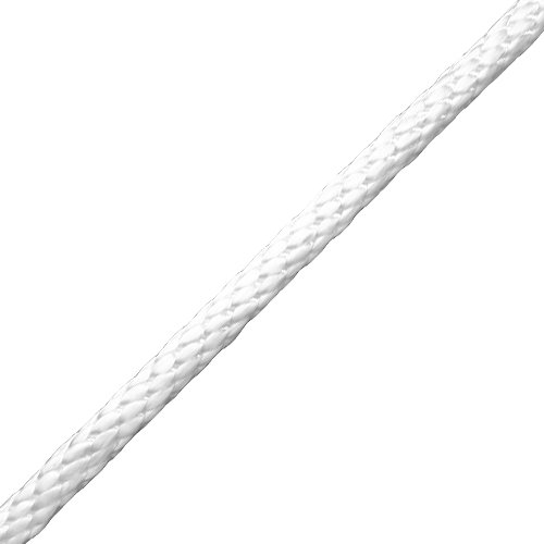 "CWC 1/4"" Nylon Solid Braid Rope - White - 1325 lbs Breaking Strength"