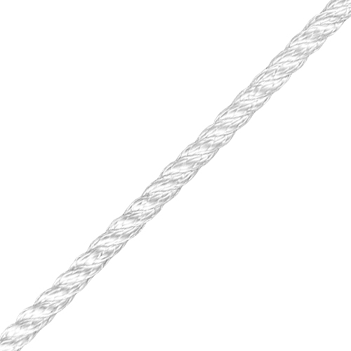 """CWC 1/4"""" Polyester 3-Strand Rope - 1315 lbs Breaking Strength"""