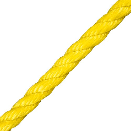 "CWC 1/4"" PolyPro 3-Strand Rope - 1125 lbs Breaking Strength"