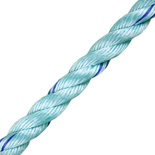 "CWC 3/4"" BlueSteel 3-Strand Rope - 13900 lbs Breaking Strength"