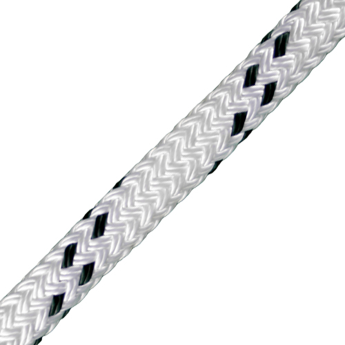 "CWC 7/8"" x 1200 ft Braided Pulling Rope w/ Spliced Eyes - 24000 lbs Breaking Strength"