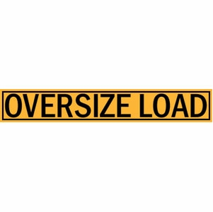 DSP 5 ft Reflective Oversize Load Sign