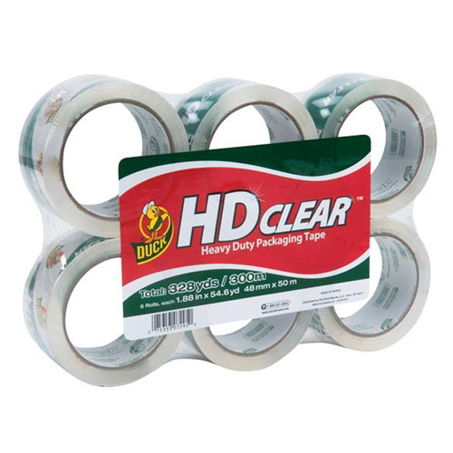 Duck Heavy-Duty Packaging Tape 6-Pack