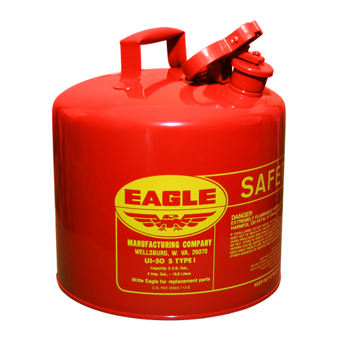 Safety Gas Can >> Eagle 5 Gallon Type 1 Red Safety Gas Can