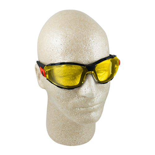 Elvex Go-Specs Amber Anti-Fog Foam-Lined Safety Glasses