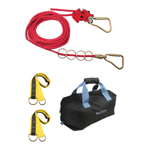 FallTech 75 ft 4-Person Checkline Horizontal Lifeline System - #777075