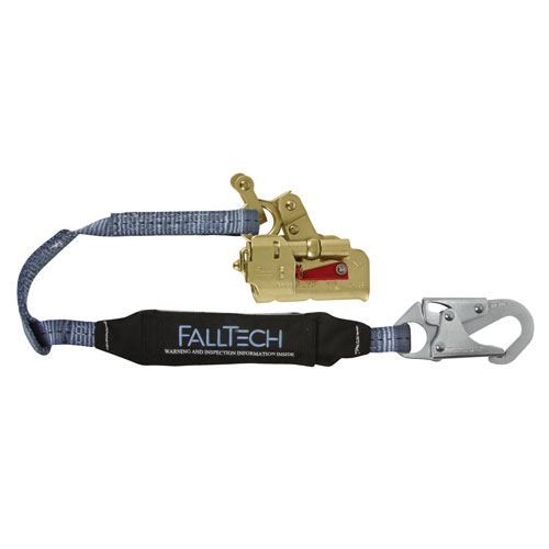 "FallTech Deluxe Self-Tracking Rope Grab & 3 ft Lanyard Combo - 5/8"" - #8355"