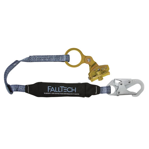 "FallTech Hinged Self-Tracking Rope Grab & 3 ft Lanyard - 5/8"" - #8358"