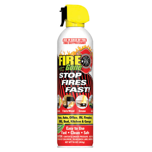 Fire Gone Aerosol Fire Extinguisher - 16 oz