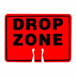 "Forester Safety Sign - ""Drop Zone"""