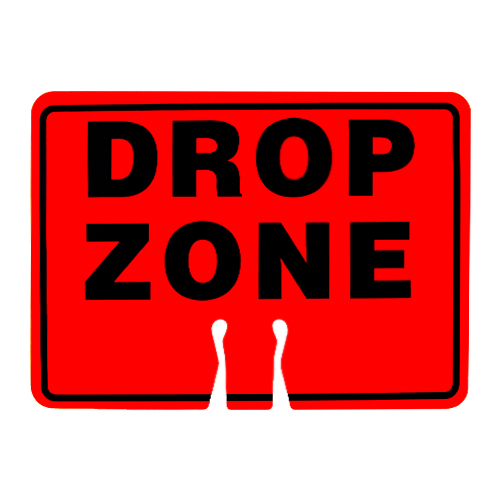"""Forester Safety Sign - """"Drop Zone"""""""