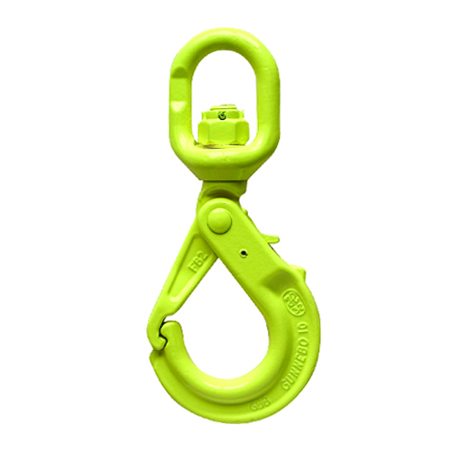 "Gunnebo 1/2"" LBK-13-10 Grade 100 Self-Closing Swivel Hook - 15000 lbs WLL - #Z100993"