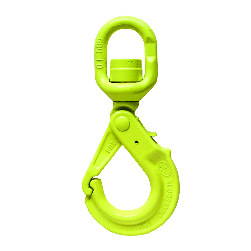 "Gunnebo 1/2"" LKBK-13-10 Grade 100 Self-Closing Swivel Hook - 15000 lbs WLL - #Z100997"