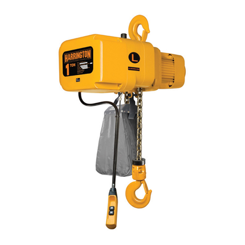 Harrington 1 Ton x 15 ft NER Electric Chain Hoist