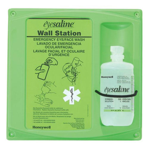 Honeywell 16 oz Eyesaline Wall Mount Eye Wash Kit