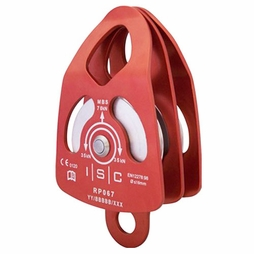 """ISC Large Double Pulley - 5/8"""" Rope - #RP067"""