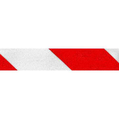 "Jessup 2"" x 60 ft Red / White Non-Skid Tape"
