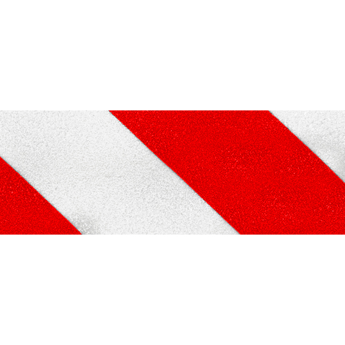"Jessup 4"" x 60 ft Red / White Non-Skid Tape"