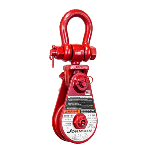 """Snatch Block with Swivel Shackle 2 Ton WLL 3/"""" Sheave Qty 2 3//8/"""" Cable"""