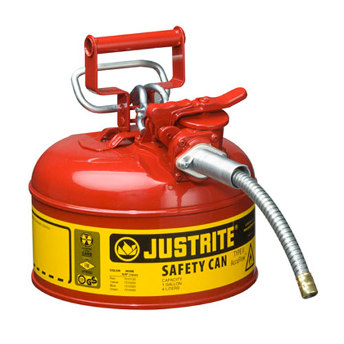 Justrite 1 Gallon Type 2 Red Safety Gas Can