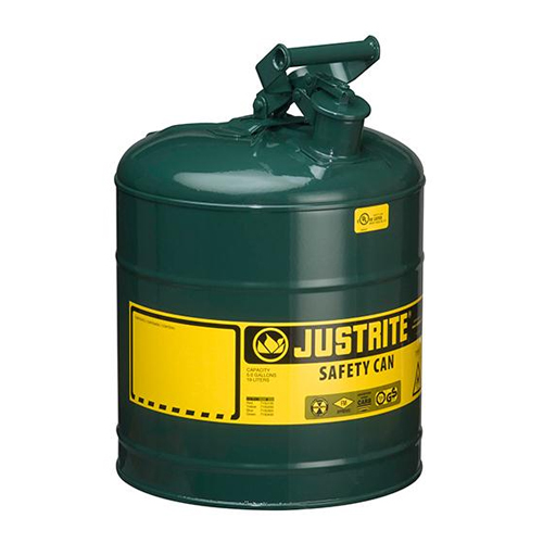 Justrite 5 Gallon Type 1 Green Safety Oil Can