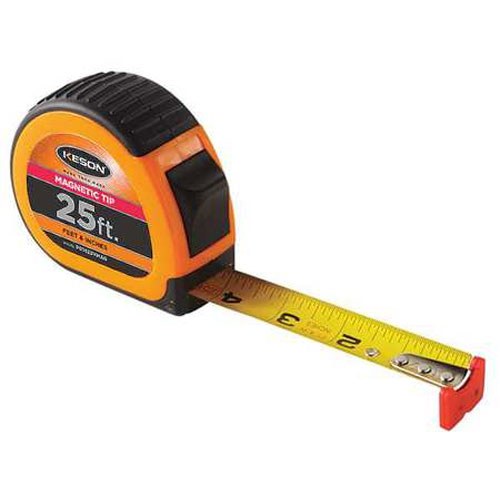 Keson Rubber Grip 25 ft Measuring Tape w/ Magnetic Tip