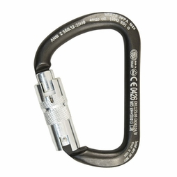 "Kong XL ""D"" Steel Carabiner - Triple -Locking"