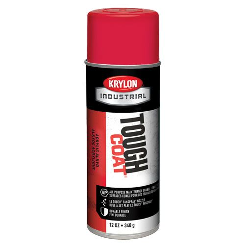 Krylon Cherry Red 12 oz Tough Coat Industrial Paint - Full Box