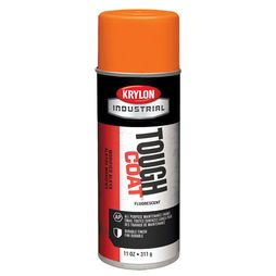 Krylon Fluorescent Orange 12 oz Tough Coat Industrial Paint - Full Box