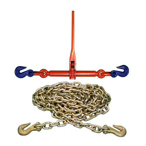 "Landmann Grade 100 Ratchet Binder + 3/8"" Grade 70 Tie Down Chain"