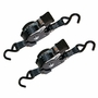 """Lift-All 1"""" x 12 ft Retractable Ratchet Strap 2-Pack - 500 lbs WLL"""