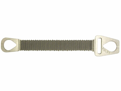 "Lift-All 4"" x 3 ft Type 1 Roughneck Wire Mesh Sling - 12 Gage - 3200 lbs WLL"