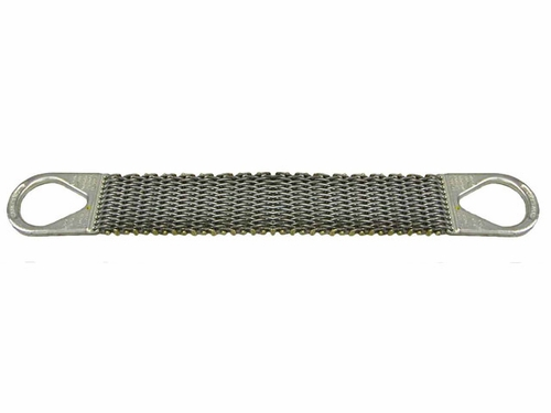 """Lift-All 4"""" x 4 ft Type 2 Roughneck Wire Mesh Sling - 12 Gage - 3200 lbs WLL"""