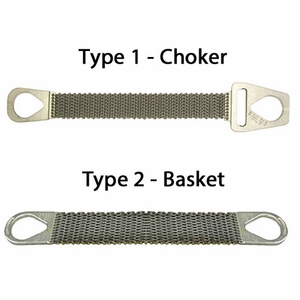 Lift-All Roughneck Wire Mesh Slings