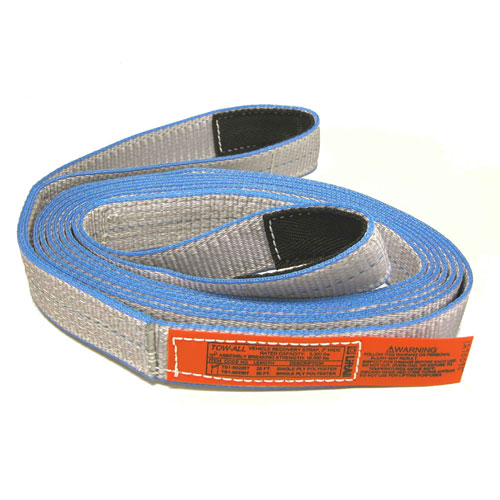 """Lift-All 2 Ply 2"""" x 20 ft Tow-All Tuff-Edge II Recovery Strap - 10700 lbs WLL"""