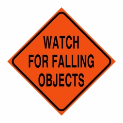 "Logging Sign - ""Watch for Falling Objects"" - Corrugated Plastic 24"" x 24"""