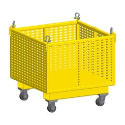 """M&W 36"""" Fixed Side Material Basket w/ Casters - 2500 lbs WLL - #23954"""