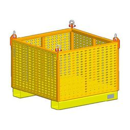 """M&W 48"""" Fixed Side Material Basket - 2500 lbs WLL - #11829"""