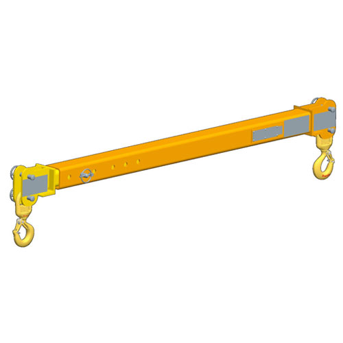 M&W 5 Ton x 8 - 14 ft Adjustable Spreader Beam - #12848
