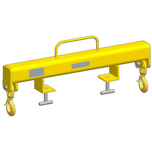 M&W Forklift Beam - Outside Hooks - 5000 lbs WLL - #12343